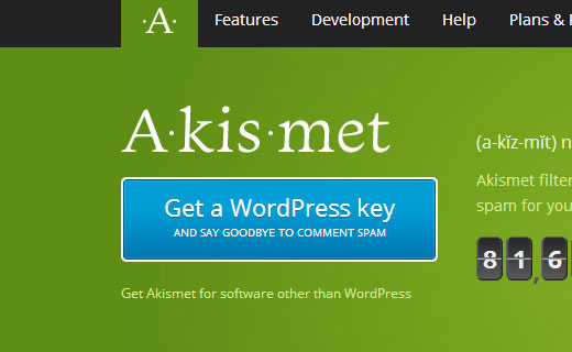 Get an Akismet Key for your WordPress website