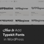 How to add Awesome Typography in WordPress with Typekit
