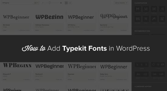 Typekit Fonts in WordPress