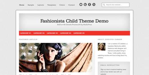 Fashionista Child Theme