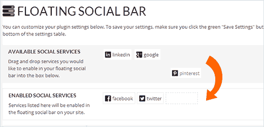 Adding Pinterest Button to WordPress using Floating Social Bar