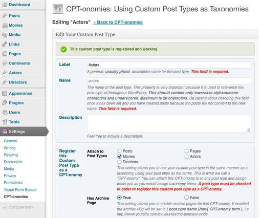 CPT-onomies edit a custom post type
