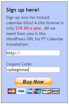 Enter your FT Calendar coupon code here