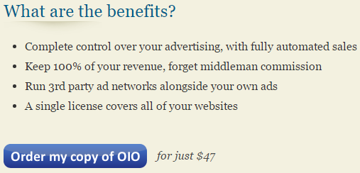 Click to start the OIO Publisher checkout process