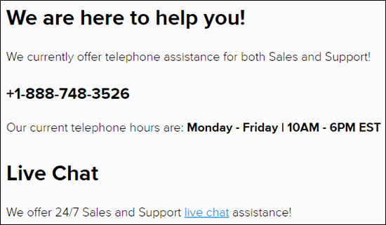 Site5 Customer Support hours