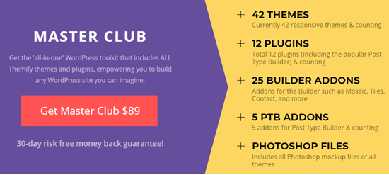 """The best Themify deal is on their """"Master Club"""" membership"""