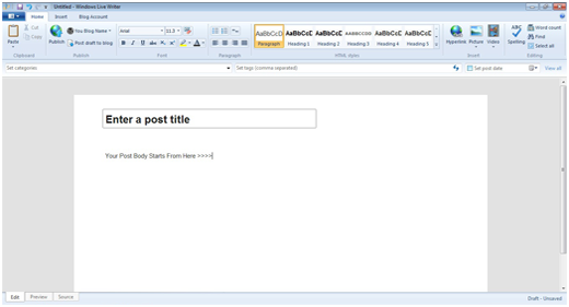 Windows Live Writer for WordPress
