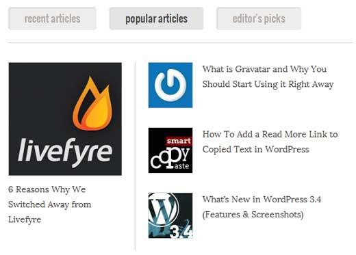 Popular Posts Example