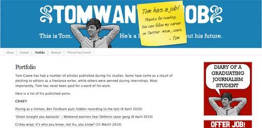 Tom Wants a Job