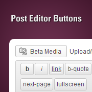 How to Add Custom Buttons with Post Editor Buttons in WordPress