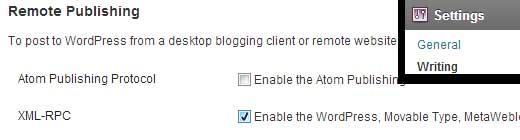 Enable XML-RPC in WordPress