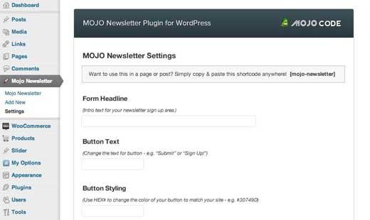 Mojo Newsletter Plugin