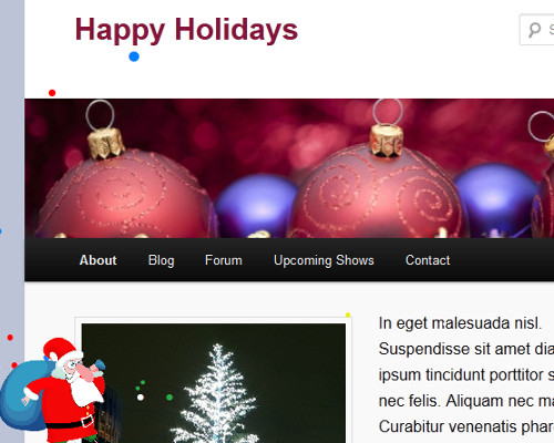 Happy Holidays Screenshot