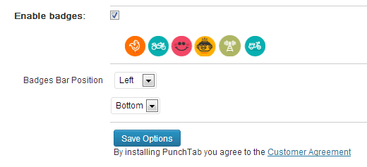 Punchtab Badges