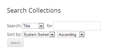 Search Library Collections
