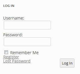 bbPress login form in sidebar