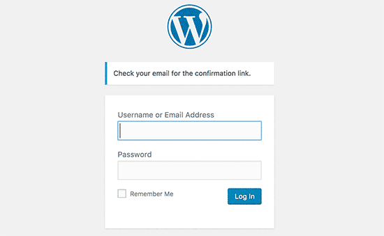 Password reset email sent