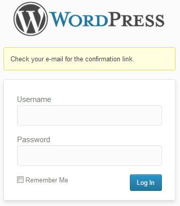 WordPress Password Reset Email Sent