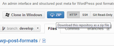 Download Post Formats UI plugin from GitHub