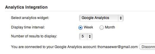 ManageWP Analytics Settings