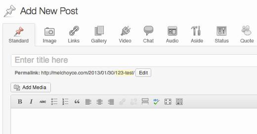 Post Formats UI Mockup