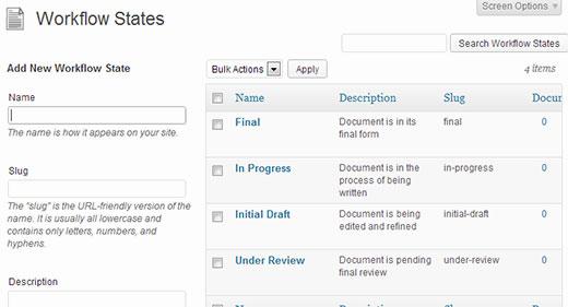 Managing document workflow states