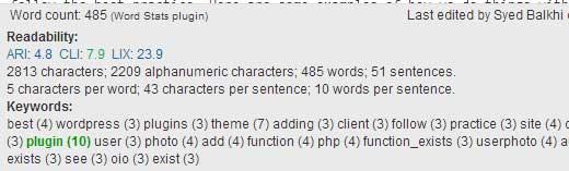 Word Stat Post