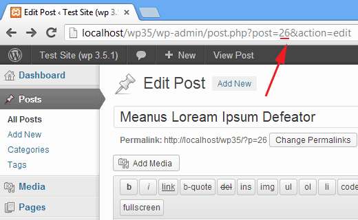 Finding a page or post id in WordPress