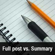 Full Post vs Summary (Excerpt) in your WordPress Archive Pages?
