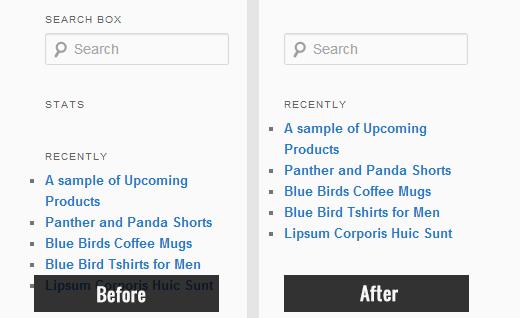 Hidden widget titles in sidebar