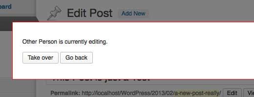 Post Lock in WordPress 3.6