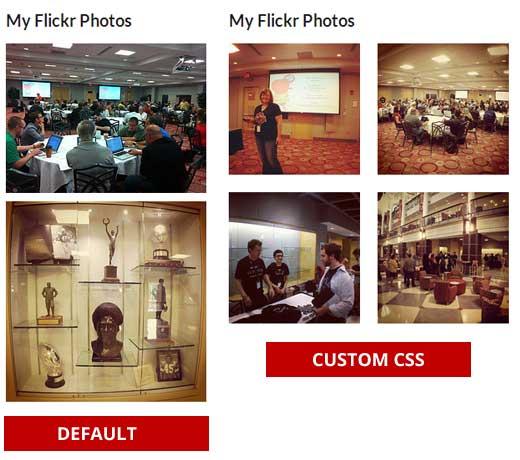 Quick Flickr Widget Display