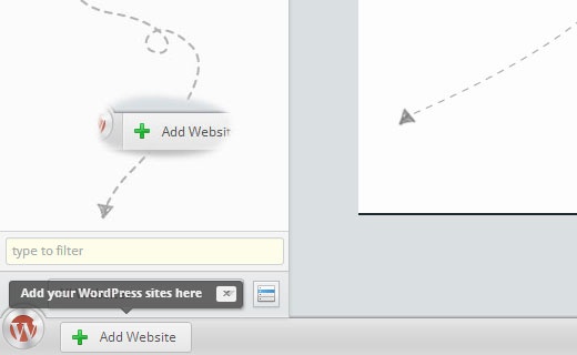 Add your first WordPress site to InfiniteWP