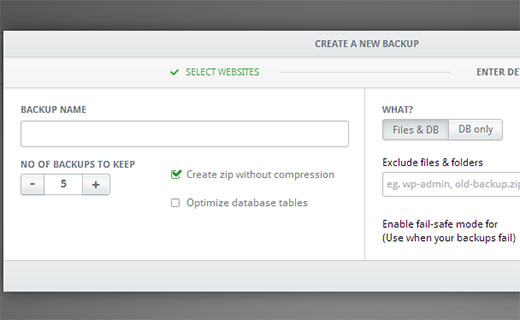 Creating backup of your WordPress website files and database using Infinitewp