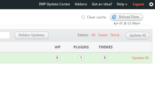 InfiniteWP allows you to update all your WordPress websites, plugins and themes from one dashboard