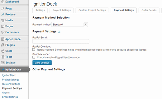 Setting up IgnitionDeck Crowdfunding plugin for WordPress
