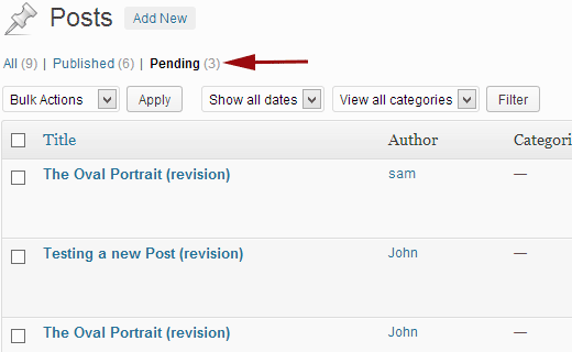 Revisions pending review