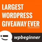 Largest WordPress Giveaway