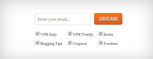 WPBeginner Subscription Checkboxes
