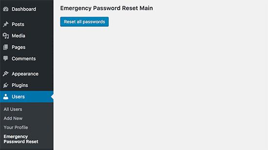Reset all passwords