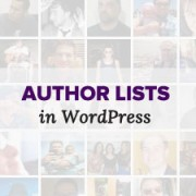 How to Show an Authors List with Photos in WordPress