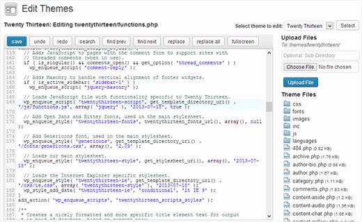Adding an advance editor to replace default WordPress Theme and Plugin Editor