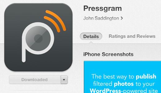 Installing Pressgram App