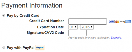 Enter your JustHost payment information