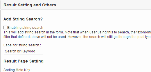 Adding a keyword search form in Ajax search