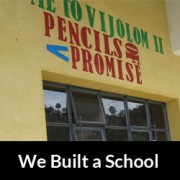Thank You for your Support – We Built the School (Pictures)
