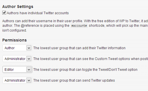 Allow authors to add twitter handles in their profiles