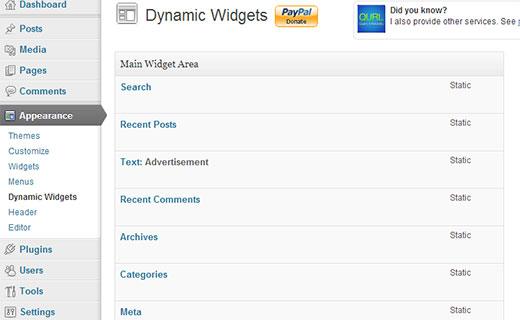 Dynamic Widgets Screen