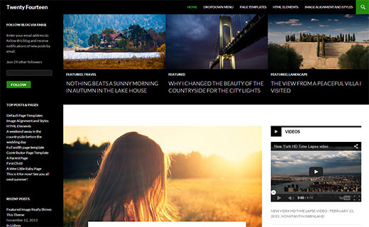 Twenty Fourteen - The new default WordPress theme for next year