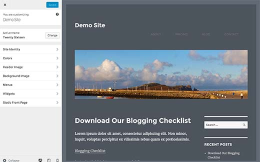 Free WordPress themes usually have fewer options